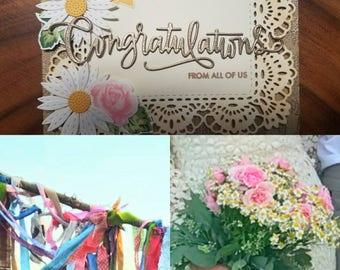 Wedding, custom card, congratulations