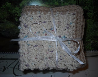 DC-015  3 Pack Crochet Dishcloths