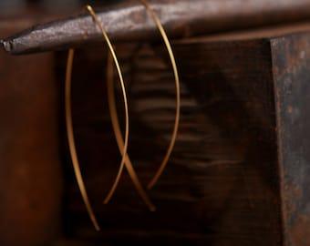 Long Earrings, Statement Earrings, Minimalist Earrings, Statement Jewelry, Dainty Earrings, Open Hoop Earrings, Gold Statement Earrings
