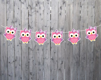 Owl Garland, Owl Banner, Owl Nursery Decoration, Owl Party, Owl Baby Shower, Owl Decorations