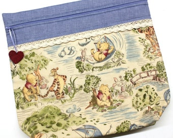 MORE2LUV Pooh's Blustery Day Cross Stitch Embroidery Project Bag