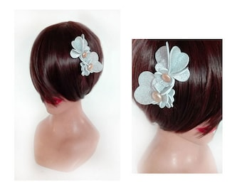 party hair clip silver little flower Hat woman Hütchen wedding fascinator, fascinator tea party hat
