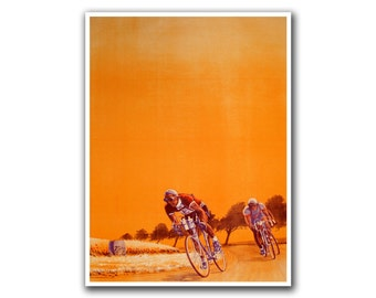 Bicycle Decor Cycling Poster Road Bike Art Vintage Print (H29)