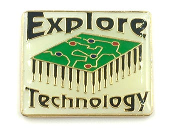 VTG DeadStock EXPLORE TECHNOLOGY Lapel Pin
