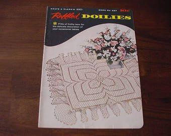 Vintage 1950s Ruffled Doilies, Coats & Clark Book No. 327 Pattern Book, Ephemera, Collectible, Estate Find