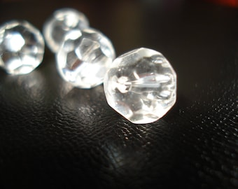 faceted transparent bead