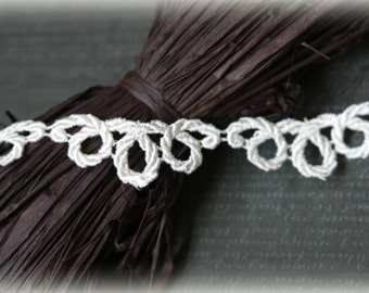 """Ivory Venise Bridal Crafting Embroidered Fabric Lace Trim LA-092 10% off """"SUMMER10"""" at checkout"""