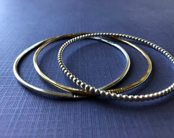 Classic Bangle Bracelet Trio