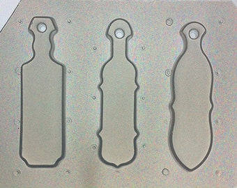 Flexible Plastic Mold Sorority Paddles Set of 3