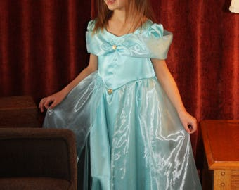 Arabian Princess Jasmine Teal Gown Costume, Made to Order