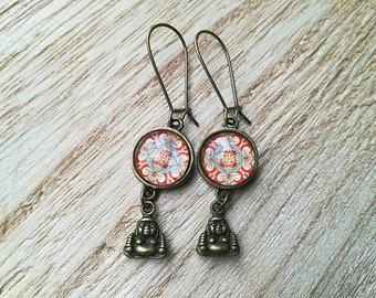 Hook dangle • cabochons earrings