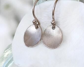 Petal Earrings in Ethical 18k White Gold, Flower Petal Drop Earrings