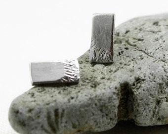 Silver Stud Earrings, Textured Earrings, Hammered, Brushed, Post earrings, Solid Sterling Silver, Hammered earrings, 925 stamped