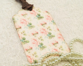 Floral Gift Tags-Floral Shabby Chic Tags-Floral stationery and tags-Set of 6