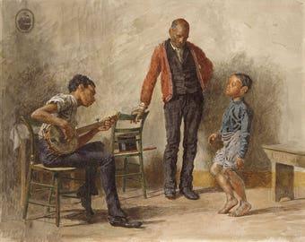 "Thomas Eakins : ""The Dancing Lesson"" (1878) - Giclee Fine Art Print"