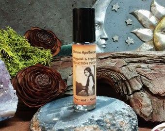 Seduction Potion Blend, Moonstone, Patchouli, Musk, Rose Oil & Petals,  Essential oil Perfume