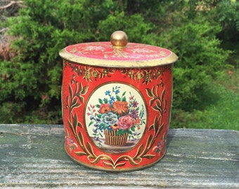Red and Gold Tin Collectible Tins