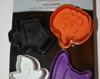 4 Halloween  Fall Cookie Stamps Press