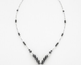 Necklace Hématite