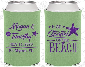 It all started on the beach, Beach Wedding Favors, Tropical Wedding Favors, Starfish Wedding Favors, Starfish Favors (413)