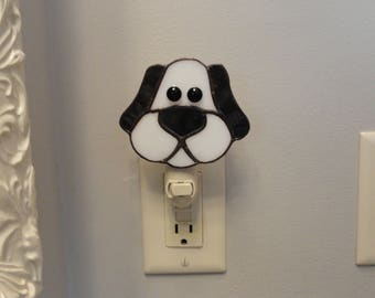 Stained Glass Dog Night Light