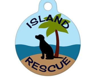Pet ID Tag - Island Rescue Dog Pet Tag, Dog Tag, Luggage Tag