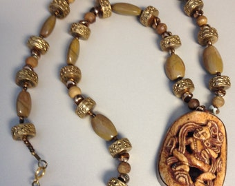 Lois Becker Necklace with India figure