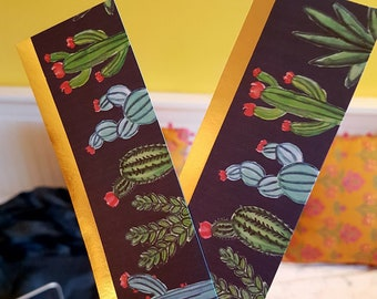 Gold Lined Cactus Bookmark