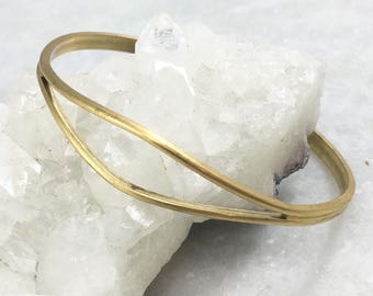 Vintage Cuff | Vintage Bracelet | Brass Open Diamond Cuff | Adjustable