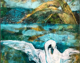 Japanese Legend (swan, lake)