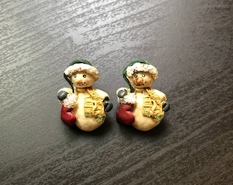 Snowman Holiday Winter Earrings