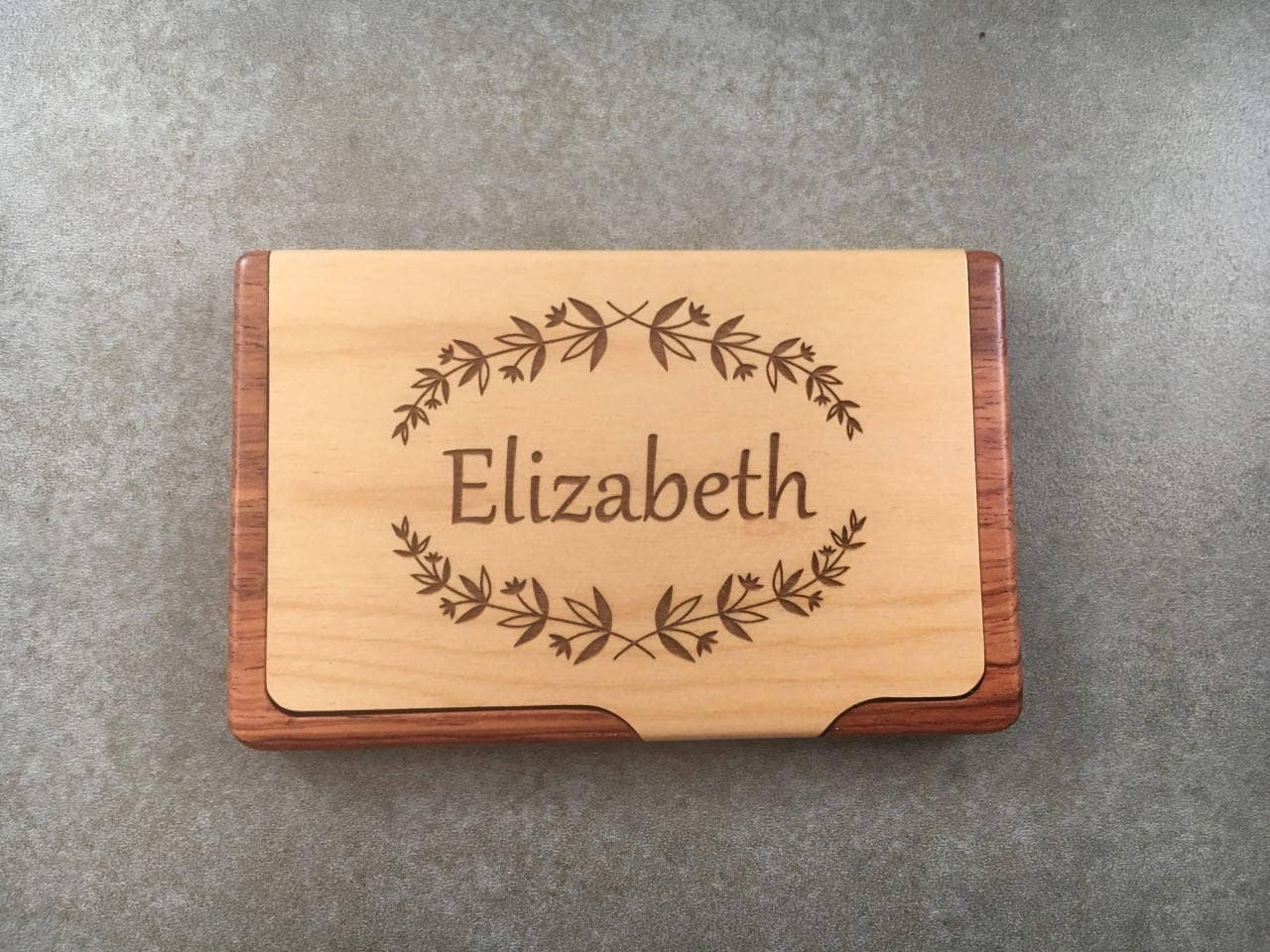Business card holder for desk realtor gift corporate business card wood business card holder gallery photo gallery photo colourmoves