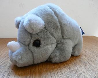SALE! Super Cute Vintage Trudy Baby Stuffed Rhyno  - Made in Italy 90s - Carinissimo Rinocerontino della Trudy