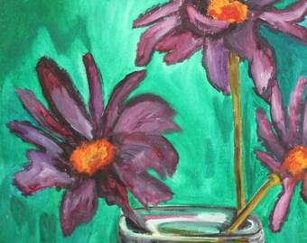 Impressionist still life oil painting