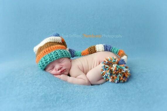Newborn elf hat long tail pixie hat pattern crochet pattern newborn elf hat long tail pixie hat pattern crochet pattern only newborn prop hat unisex crochet pattern prop pattern dt1010fo