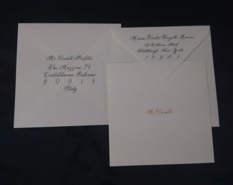 Artistic Calligraphy for wedding invitation envelopes