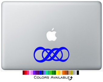 Double Infinity Laptop Decal