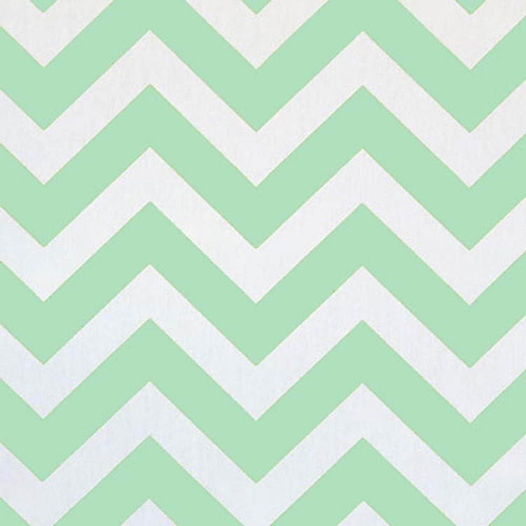 RECENTLY REDUCED Premier Prints ZigZag Mint Green White