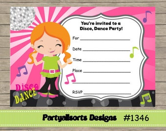 Diy fill in yourself sleepoverboys party childrens birthday diy fill in yourself dance discochildrens party invitations instant download solutioingenieria Gallery