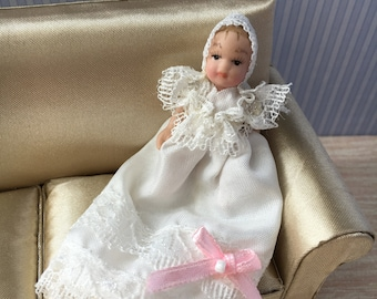 1/12 Dolls House Miniature Baby doll