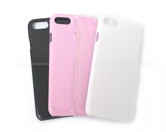 Blank iPhone 7/8 Plus Phone Case for DIY project color in White, Black, Transparent, Pink