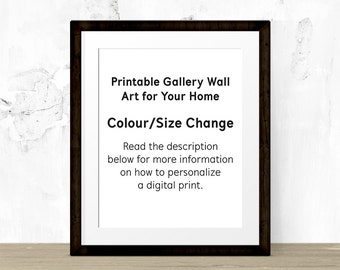 Colour/Size Change of a Digital Wall Art Print