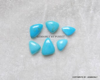6pc Natural TURQUOISE CABOCHON uneven shape cabochon 100% ARIZONA sleeping beauty turquoise mix size shape nice quality turquoise birthstone