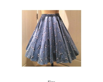 Women's multisize circle skirt PDF Sewing Pattern