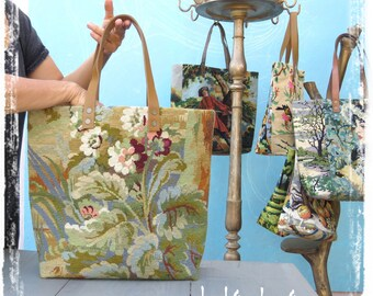 Tapestry Purse, Seventies Handbag Wild Nature Zen Asia : Le Berenice