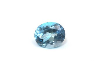 5.45 Cts Sky Blue Topaz Oval Cut 12x10 mm Loose Gemstone