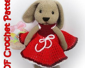PDF Crochet Bunny / Rabbit Pattern - Amigurumi PDF Pattern – Crochet Plush Toy - Stuffed Animal Tutorial