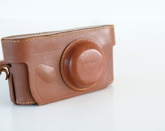 COVER ARGUS Case Brown Soft Leather Film Strap Instant Film Camera 35mm analog purse Vintage Case Display Protective TheHeartTheHome