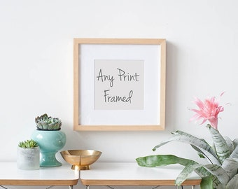 Framed Art Print, Large Wall Art, Framed Photography Print, Choose Any Photograph Framed