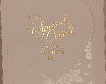 NEW! Vintage On Your Wedding Day by Dayspring. Single card and envelope